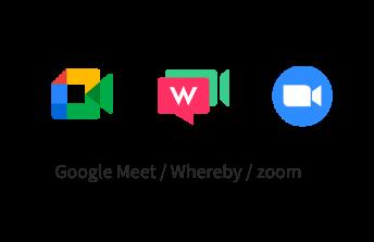 Google Meet/Whereby/zoom