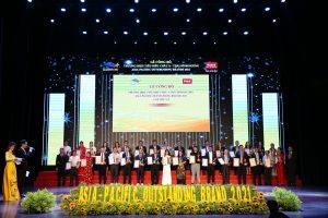 2021年 アジア太平洋地域における代表的なブランド トップ100の表彰式